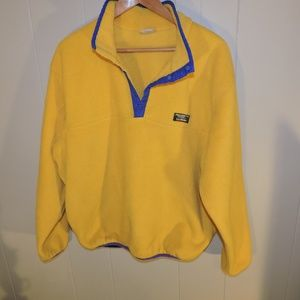 Vintage L.L. Bean Fleece Pullover Snap Jacket